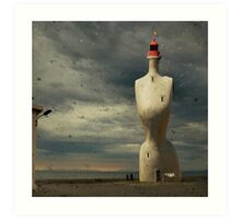 French surreal lighthouse Art Print