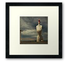 French surreal lighthouse Framed Print