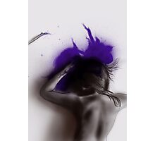 Purple Murder Mystery - digital painting in Photoshop Photographic Print