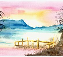 Cumbrian lake sunset by GEORGE SANDERSON
