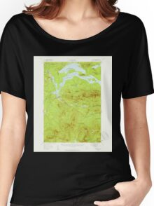Maine USGS Historical Map Stratton 460937 1956 62500 Women's Relaxed Fit T-Shirt