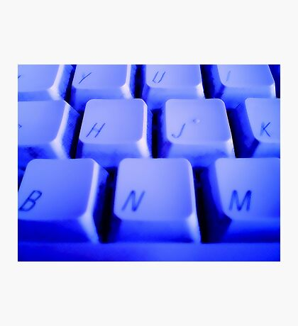 Blue Keyboard Photographic Print