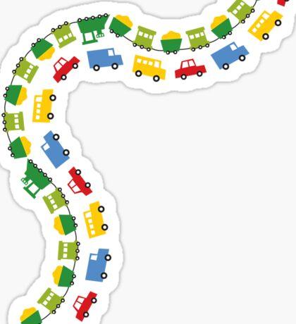 Boys Toys Transport Sticker