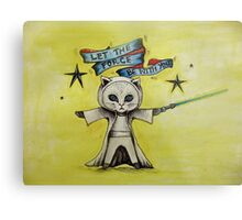 the force star kitty lightsaber  Metal Print