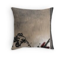 'Flowers to the Past I' Throw Pillow