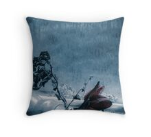 'Flowers to the Past II' Throw Pillow