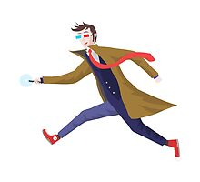 10th Doctor Vector Sticker by DanDeschaine