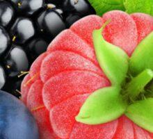 Raspberry, blackberry and blueberry Sticker