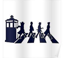 Tardis Road - Blue Poster