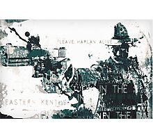 Justified typography piece Photographic Print