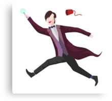 11th Doctor Vector Sticker Canvas Print