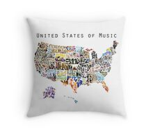 United States of Music Throw Pillow