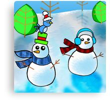 Christmas Snowmen Canvas Print