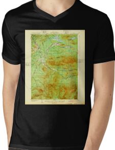Maine USGS Historical Map Stratton 807693 1932 62500 Mens V-Neck T-Shirt