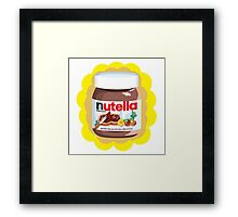 Chocolatey Nutella Framed Print