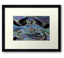 Shark teeth galactica Framed Print
