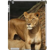 Momma and lion cub iPad Case/Skin