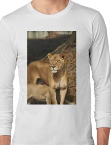Momma and lion cub Long Sleeve T-Shirt