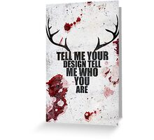 Tell Me Your Design - Hannibal typography  Greeting Card