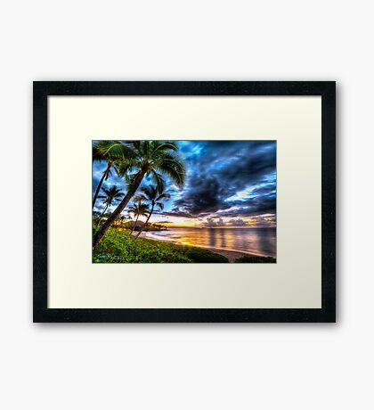 Maluaka Calm at Prince Beach, Maui Framed Print