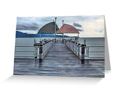 Jetty on the Strand, HDR Greeting Card