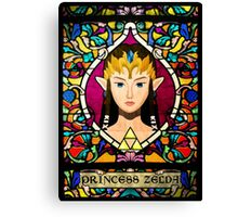 Stained Glass Princess Zelda Canvas Print