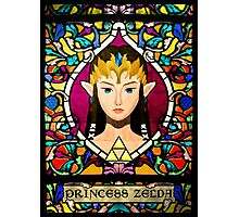 Stained Glass Princess Zelda Photographic Print