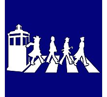 Tardis Road - White Photographic Print
