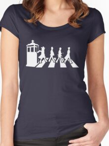 Tardis Road - White Women's Fitted Scoop T-Shirt