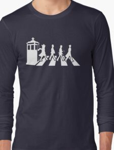 Tardis Road - White Long Sleeve T-Shirt