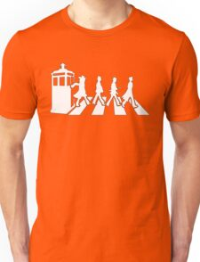 Tardis Road - White Unisex T-Shirt