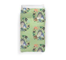 Green Totoro Wreath - My Neighbor Totoro Duvet Cover