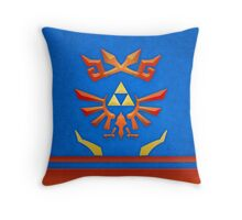 A Warrior's Scarf Throw Pillow
