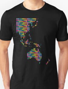 Rainbow Mosaic Asia Pacific Map T-Shirt