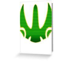 Rebel Wings Crest Greeting Card