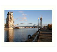 Lowry foot bridge Solford Quays Art Print