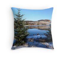 Snow kissed fir trees Throw Pillow