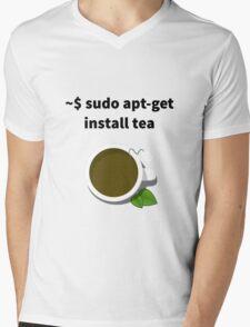 Linux sudo apt-get install tea Mens V-Neck T-Shirt