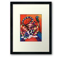 Red Aris-to-Cat Blu Blood Framed Print