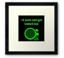 Linux sudo apt-get install tea Framed Print