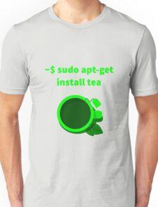 Linux sudo apt-get install tea Unisex T-Shirt