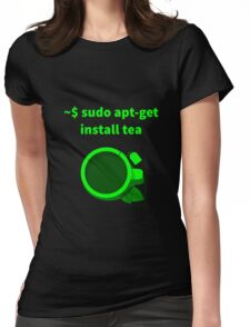 Linux sudo apt-get install tea Womens Fitted T-Shirt
