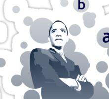 obama : bubbles Sticker