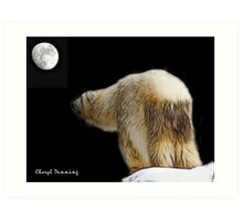 Debbie and the moon Art Print