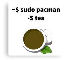 Linux sudo pacman -S tea Canvas Print