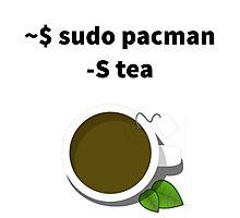 Linux sudo pacman -S tea Photographic Print