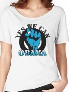 obama : blue blooded fist Women's Relaxed Fit T-Shirt