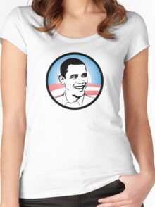 obama : o's logo Women's Fitted Scoop T-Shirt