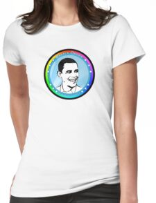 obama : blue rays Womens Fitted T-Shirt