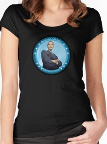 barack obama : new world order Women's Fitted Scoop T-Shirt